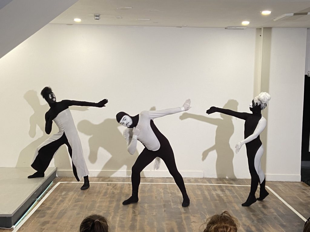 Performance at the elysium gallery.