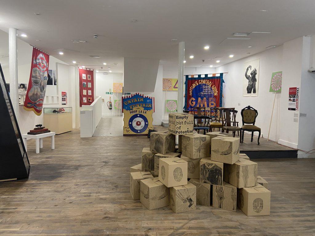 Inside the elysium gallery.