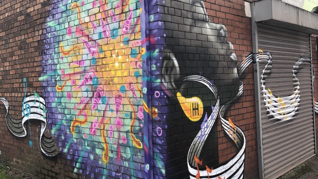 A piece of street art by Mike 22